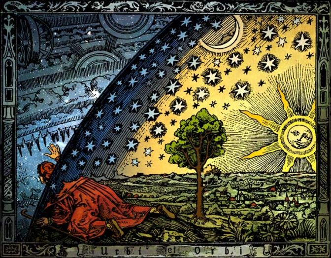 Flammarion woodcut, Paris 1888