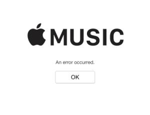 Music Error